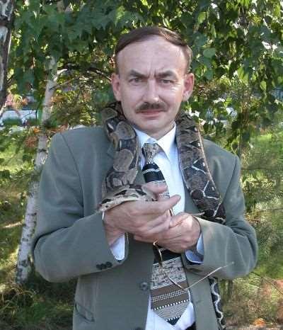 Владимир Михеев со змеей
