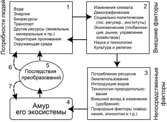 Факторы преобразования Амура и его экосистем