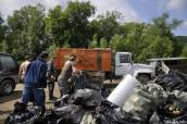 Сахалинцы очистили реки от сетей и мусора