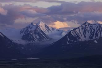 Сумерки над Алахинским ледником - Фото Игоря Хайтмана