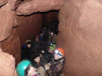 """at a depth of 50 meters below the ground . Cave """" Rassokha """""""