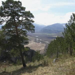 Вид на долину Ини и Тигирекский хребет. Фото: Андрей Мальцев