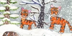 Международный конкурс рисунков о тиграх и леопардах в дикой природе