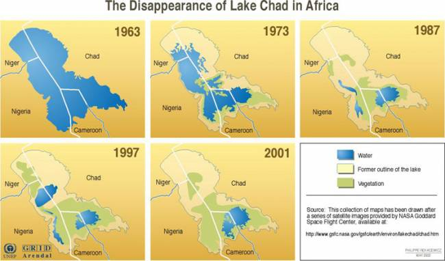 Озеро Чад ожидает судьба Аральского моря