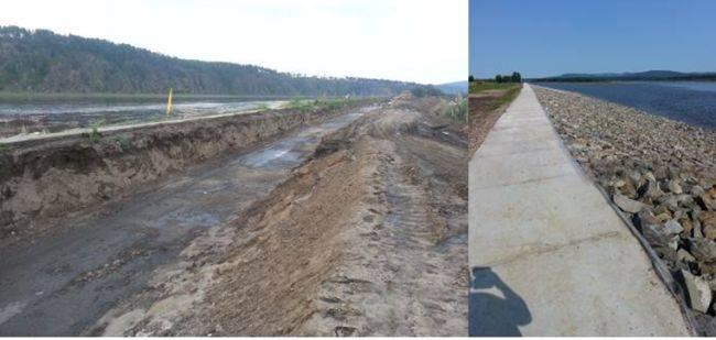 Дамба и дороги - источники местного дохода
