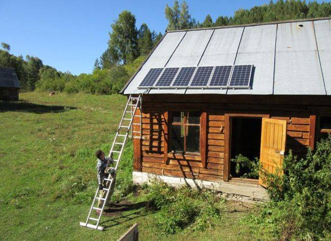 Солнечные батареи на кордоны заповедника