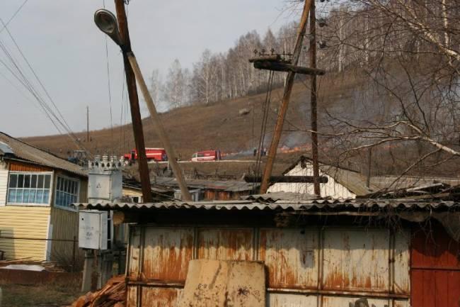 Пожары в Горном Алтае. Ландшафтный пожар Верхнем Карагуже