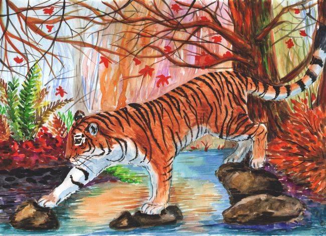 Мир тигров и леопардов глазами детей