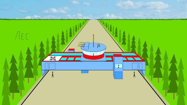 Лесная АМАК-система применяется для тушения пожаров в больших лесных массивах.
