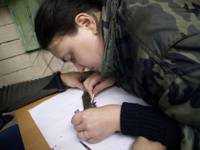 М.В. Орлова за работой