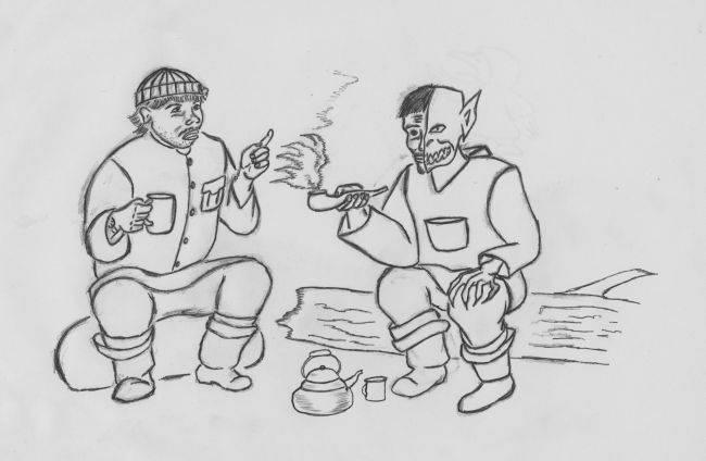 Келе и геолог