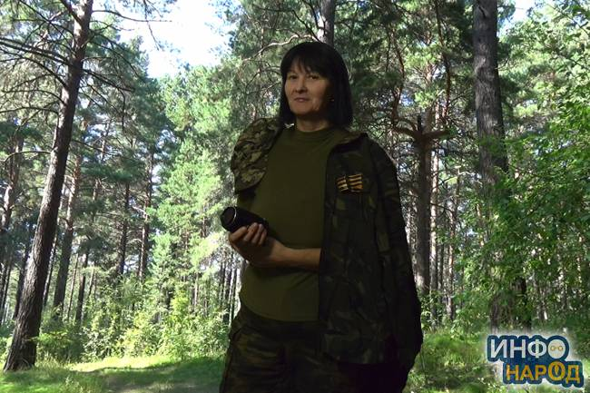 М.П. Кузьмина в Шлюзовском лесу