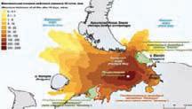 Возможные нефтяные загрязнения акваторий и побережий при разливе нефти в 10 000 т за 5 суток